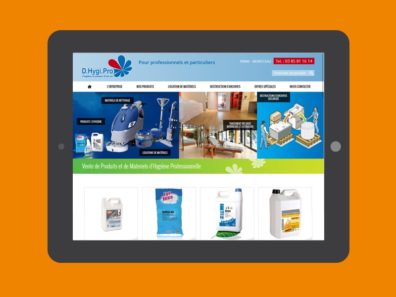 site e-commerce prestashop D.HYGI.PRO